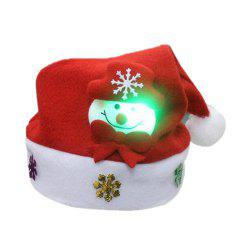 Christmas Hat for Children and Adults Non-Woven Pleuche Snowman Hats with Light -