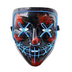 Halloween effrayant masque Cosplay Led Costume masque EL fil s'allument pour Halloween -