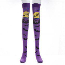 Costumes for Halloween Costume Party Socks Festival Performances Bats Pattern -