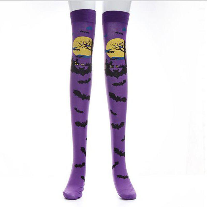 Online Costumes for Halloween Costume Party Socks Festival Performances Bats Pattern