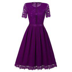 Ladies' Summer and Summer Lace Dress -