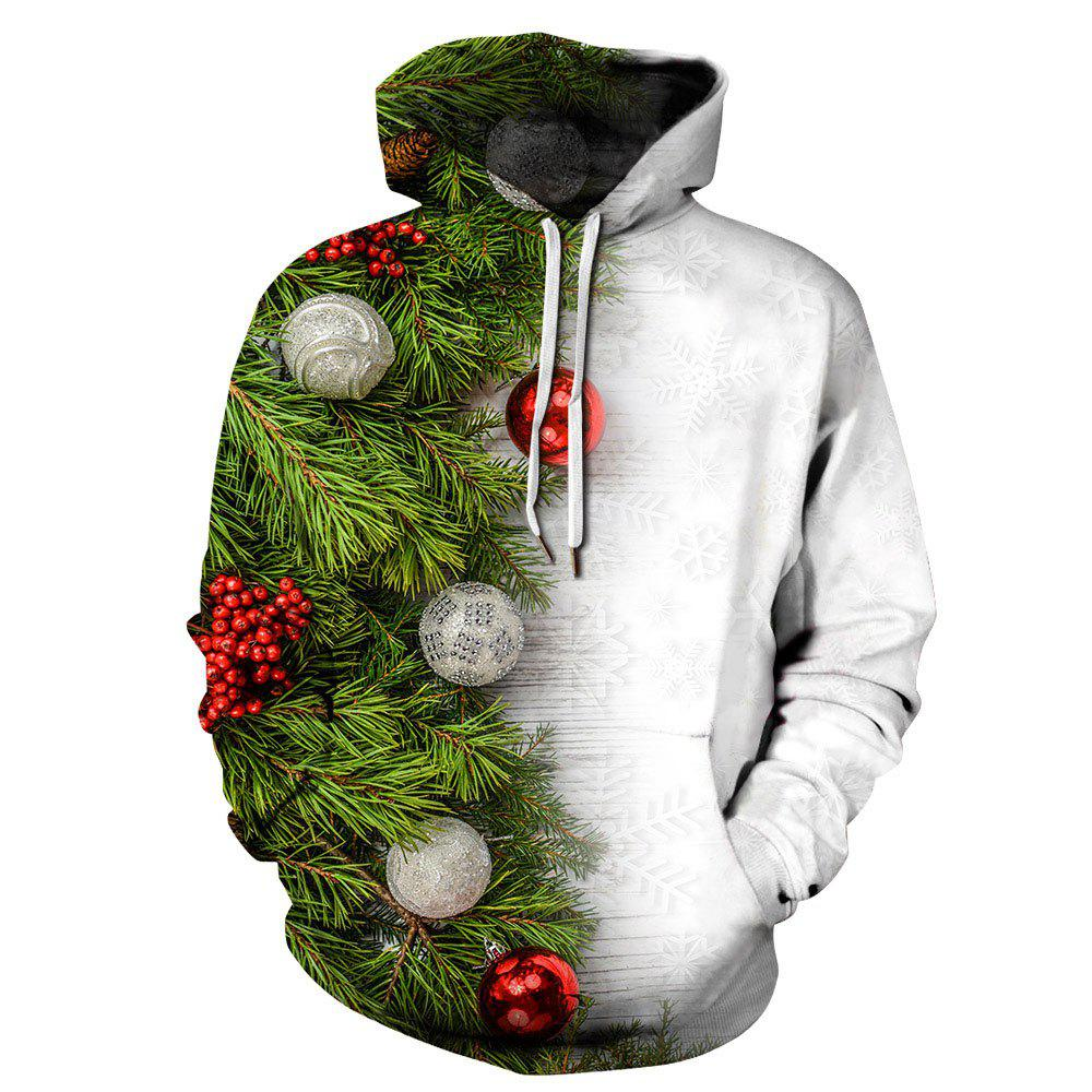 Hot Winter Men's  Digital Print Long Sleeve Christmas sweatshirt