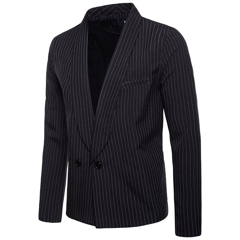 Outfit Stripe Fashion Casual Men's Suit