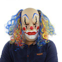 Bald Curly Hair Clown Halloween Mask for Cosplay Party -