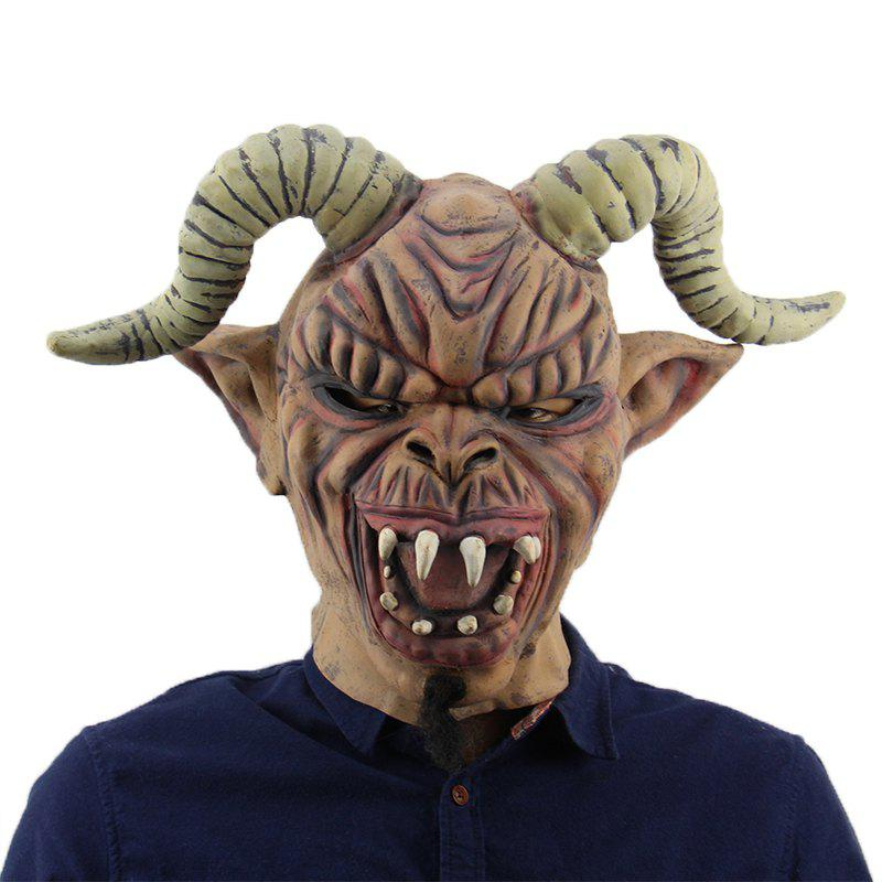 Unique Horrible Long Horn Evil Halloween Mask for Cosplay Party