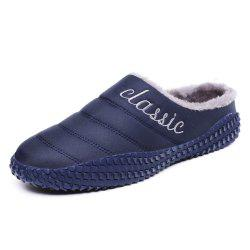 Men'S Velvet Fashion Antiskid Cotton Slippers -