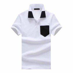 Men's Fashion Luokou Color Matching Casual Large Size Short-Sleeved T-Shirt -