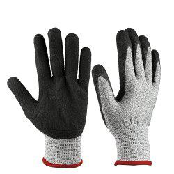 OZERO Cut Resistant Gloves Safety Protection Nitrile Coated Durable -