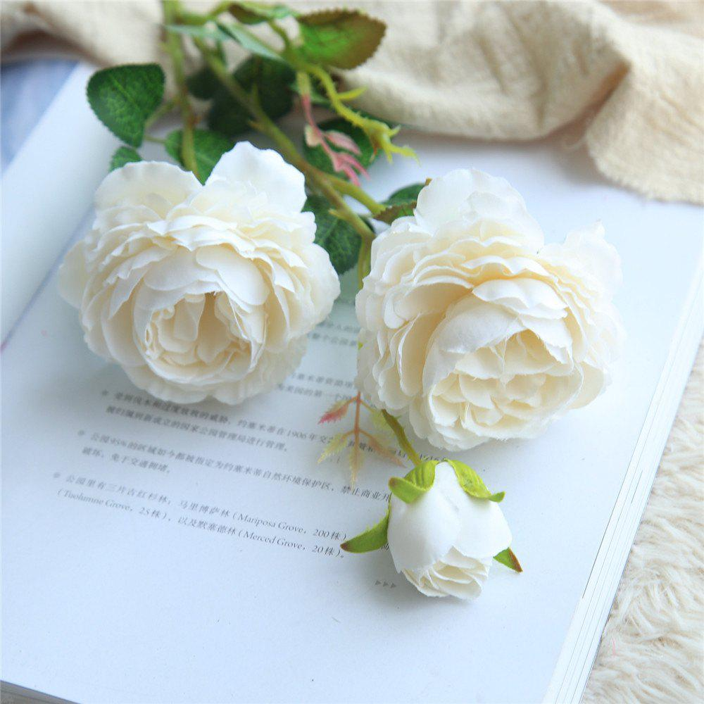 Hot European Style Cabbage Rose Artificial Flower Bridal Bouquet Home Decorations