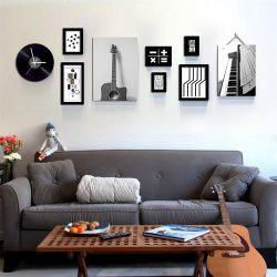 Modern Style Photo Frame Set Wooden Picture Wall Art -