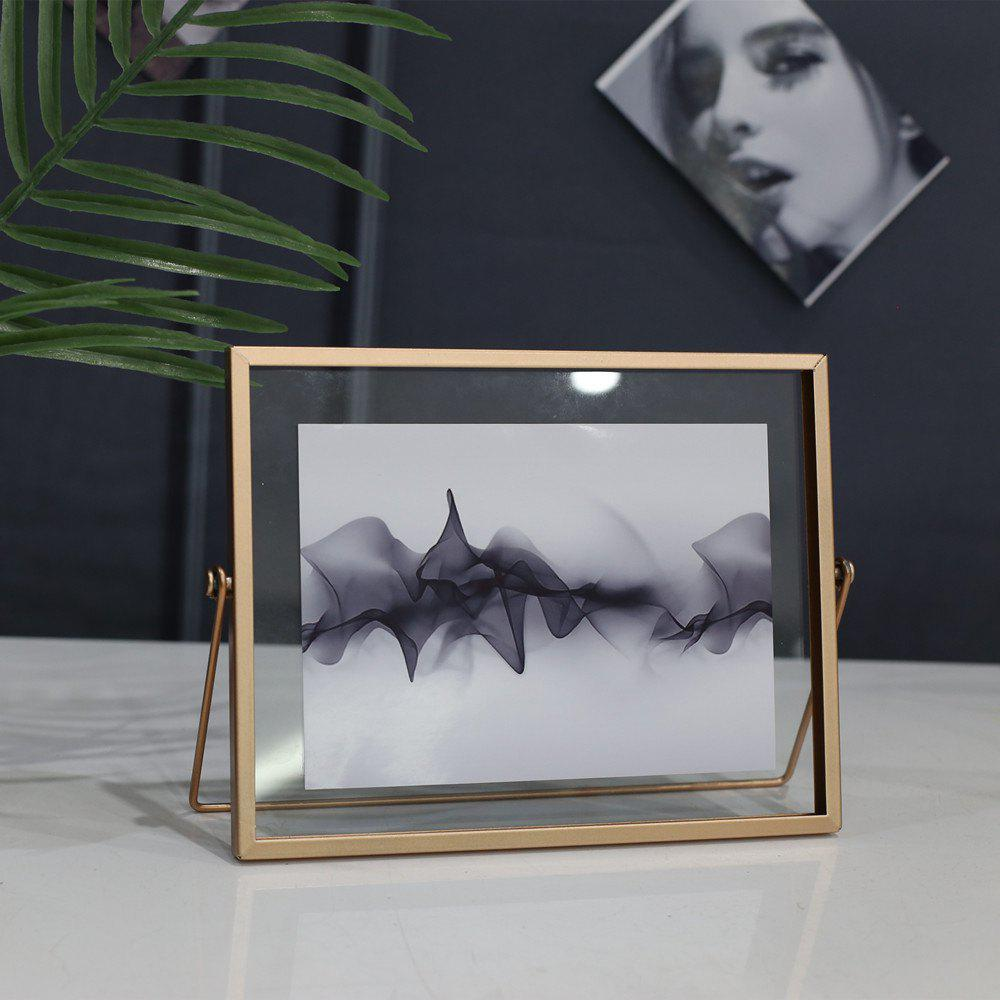 Cheap Nordic Brief Style Rectangle Metal Photo Picture Frame Home Decor