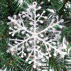 15Pcs Christmas Snowflakes Tree Ornaments Home Party Holiday Festival Decor -
