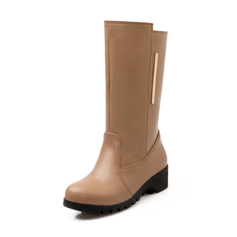 Affordable Leisure Student Warm Middle Tube Boots
