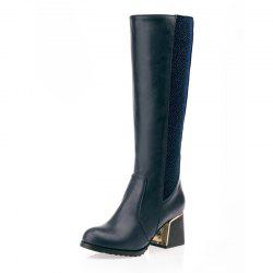 Thick Joint with Color Warmth Comfort Knee Boots -