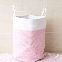 Pure Hand Knitting Cotton Thread Bucket for Clothes and Sundries -