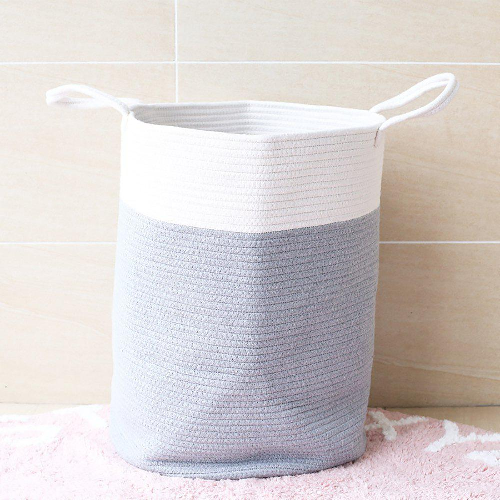 Online Pure Hand Knitting Cotton Thread Bucket for Clothes and Sundries