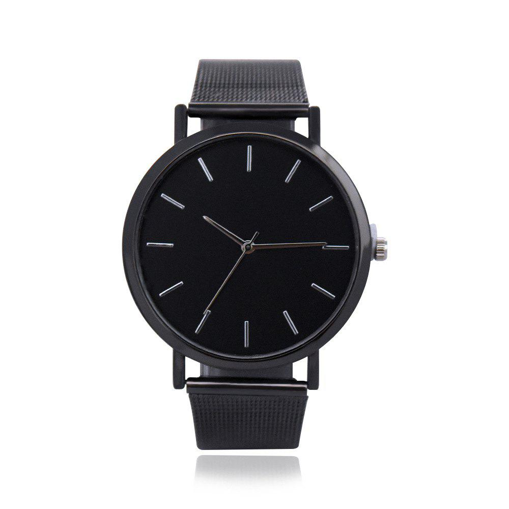 Sale Neutral Contracted Scale Mesh Belt Quartz Watch