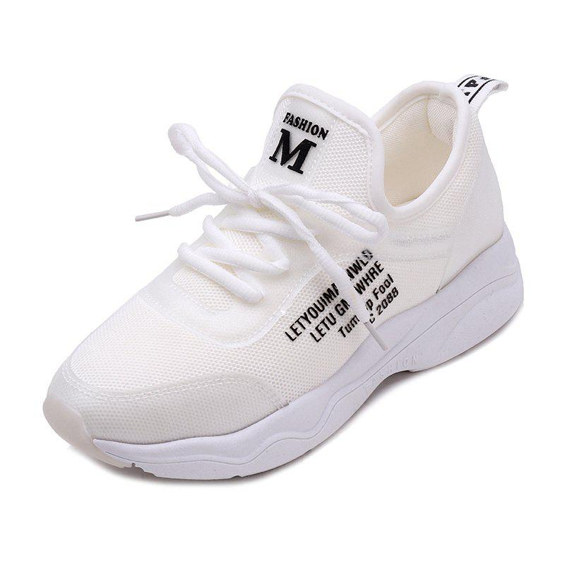 Fancy Front Lace Flat Bottomed Autumn Style Casual Casual Sports Shoes