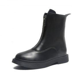 Flat Bottomed Front Zipper Casual Comfortable Martin Boots -