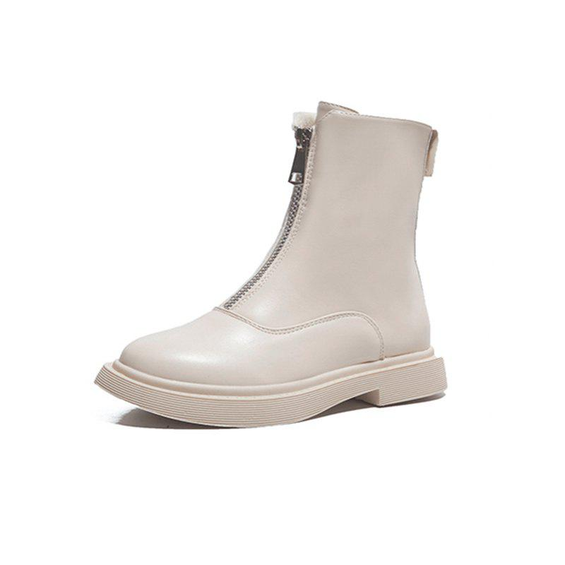 Chic Flat Bottomed Front Zipper Casual Comfortable  Boots