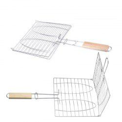 Stainless Steel BBQ Net Fish Meat Hamburg Net Barbecue Nets Grill Clamp -