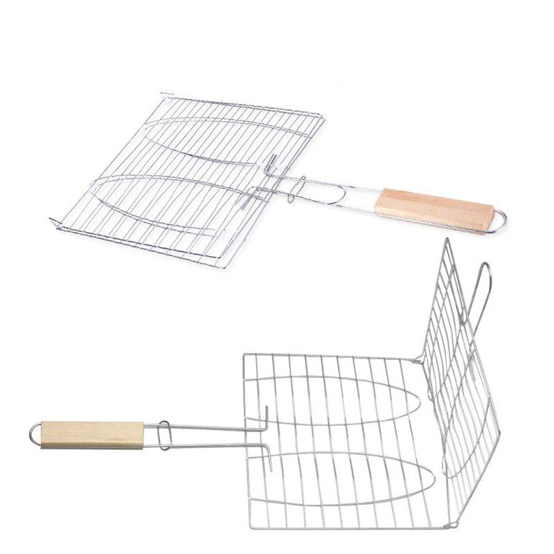 Best Stainless Steel BBQ Net Fish Meat Hamburg Net Barbecue Nets Grill Clamp