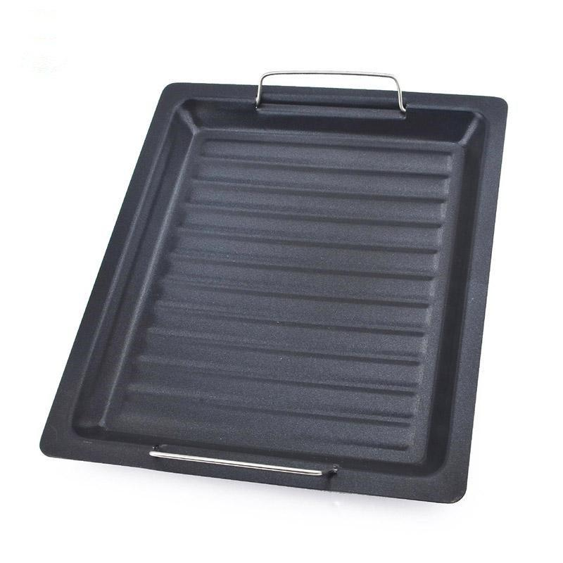 Square Shape Grilling Pan Non-Stick Pans Pizza Cake Baking Tray BBQ