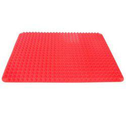 2PCS Red Silicone Baking Mat Tray Non Stick Mat Kitchen Tool Barbecue Outside -