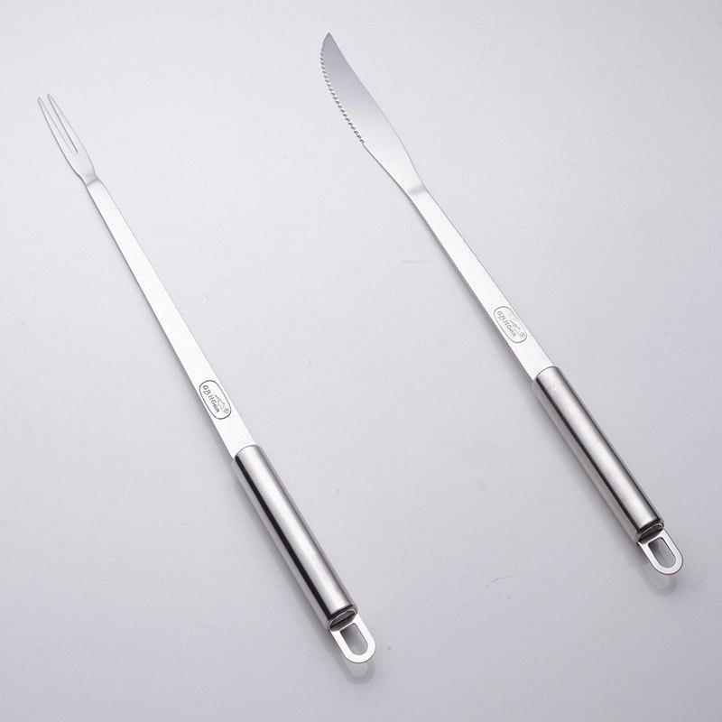 Набор вилки и ножа BBQ Meat Fork Barbecue Stainless Grill Tools