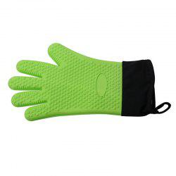 Microwave Heat Resistant BBQ Cooking Gloves Silicone Oven Mitts -