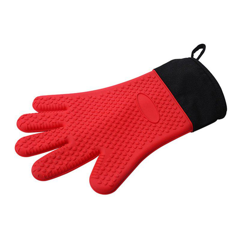 Discount Microwave Heat Resistant BBQ Cooking Gloves Silicone Oven Mitts