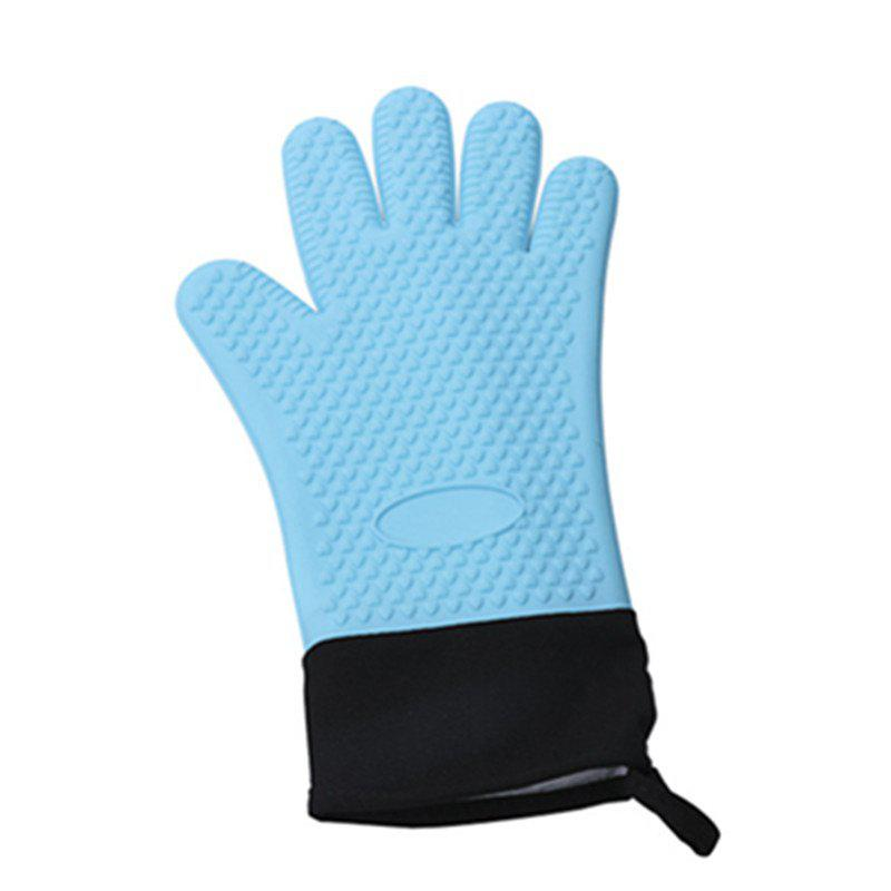 Trendy Microwave Heat Resistant BBQ Cooking Gloves Silicone Oven Mitts