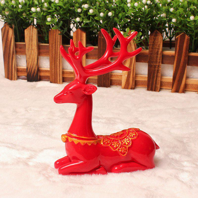 Unique Deer Furnishing Articles Resin Ornament Fashion Wedding Gift Christmas Gift