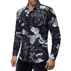 New 3D Printed Men's Casual Slim Long-Sleeved Shirt -