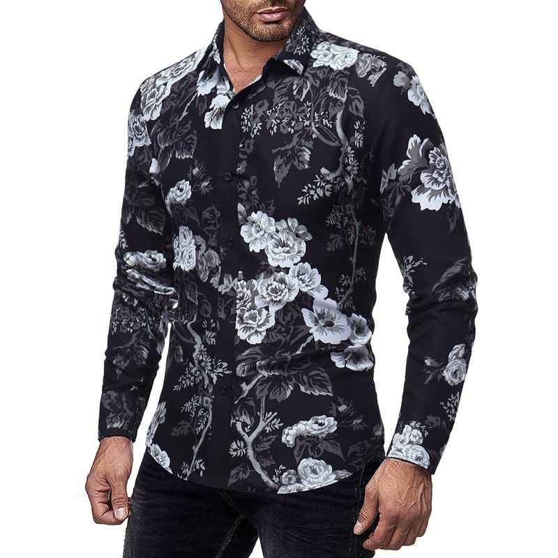 Best New 3D Printed Men's Casual Slim Long-Sleeved Shirt