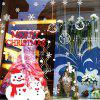 Christmas Commodity Snowman Wall Sticker Window Glass Background -