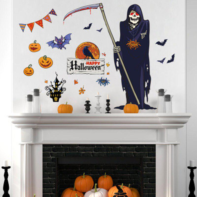 Death Wall Stick Wacky Halloween Fright Adornment может удалить наклейки