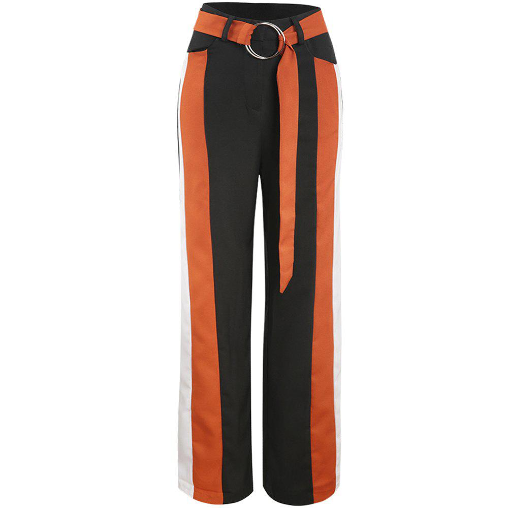 Chic Splice Loose Wide Leg Pants