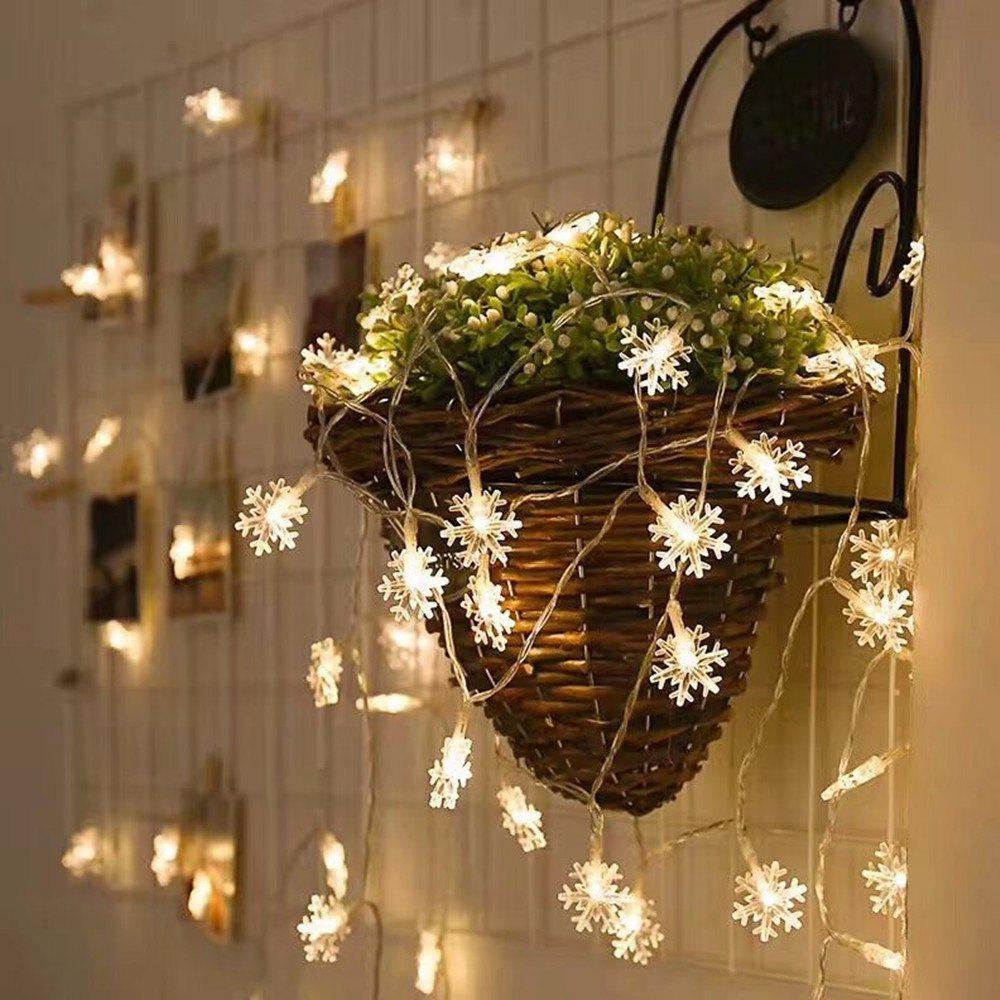 Shop Christmas Indoor Outdoor LED Snowflake Lights