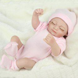 Мини-розовый 10inch Reborn Baby Dolls Full Silicone Baby Doll Body -