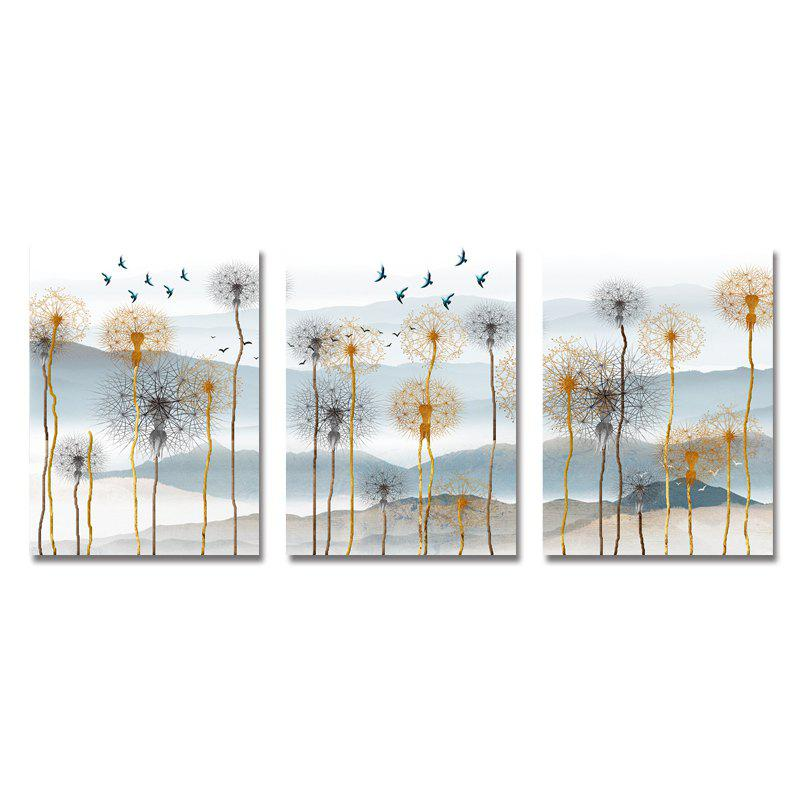 Unique DYC 3PCS Dandelion Scenery Print Art