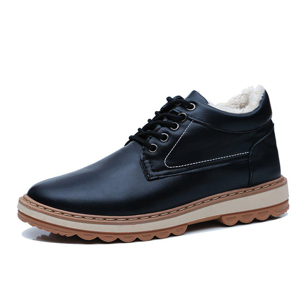 Latest Men Winter Cotton-Padded Warming Casual Shoes