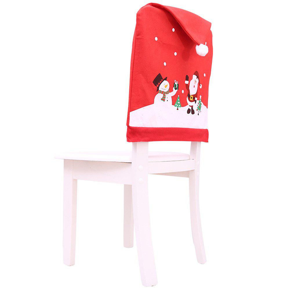 Trendy 2PC Christmas Decorations Santa Chair Cover Dinner Decor Party