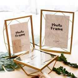 Glass Geometric Wire Photo Picture Frame for Desktop or Wall -