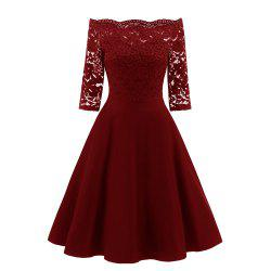 Rey Lace Seven Point Sleeve Dress -