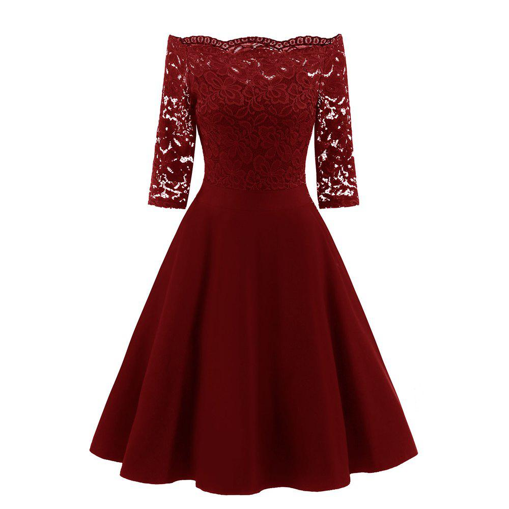 Discount Rey Lace Seven Point Sleeve Dress