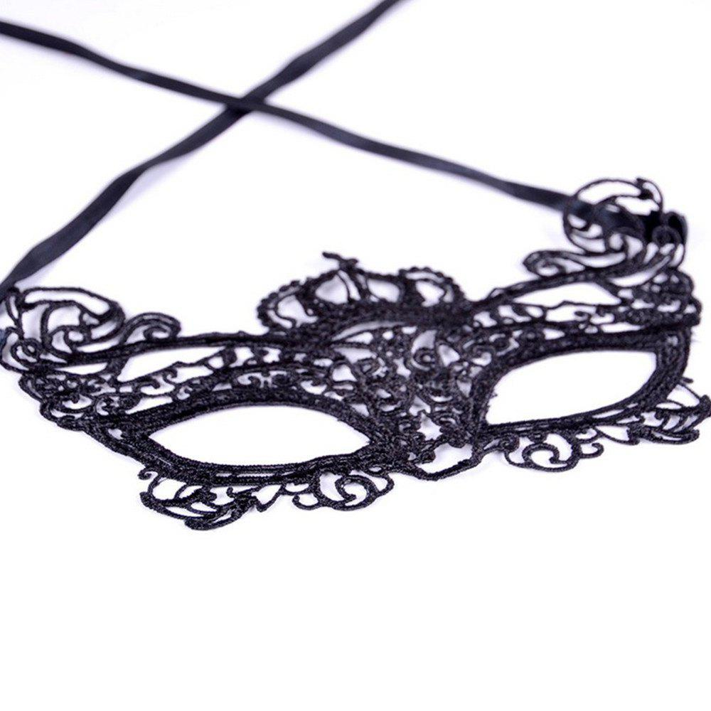 Shop Sexy Women Black Lace Masquerade Mask Halloween Cosplay Carnaval Party Prop 013