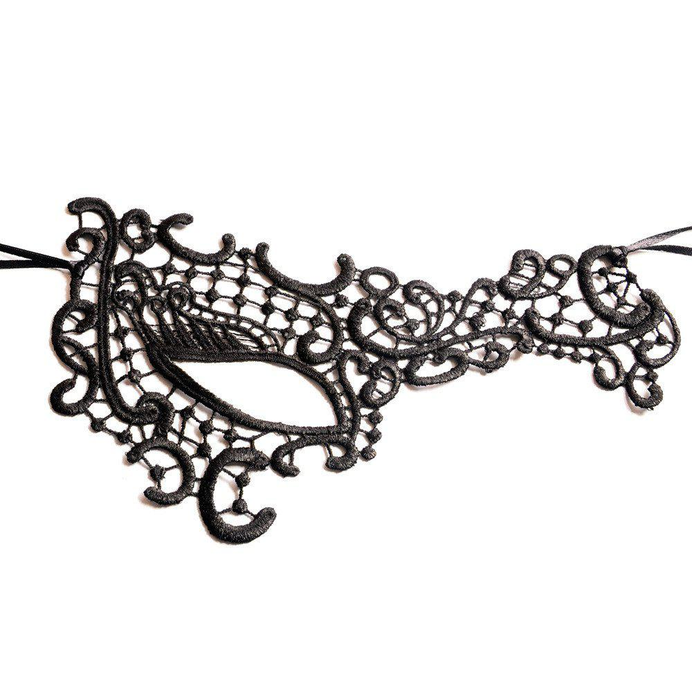 Cheap Sexy Women Black Lace Masquerade Mask Halloween Cosplay Carnaval Party Prop 021