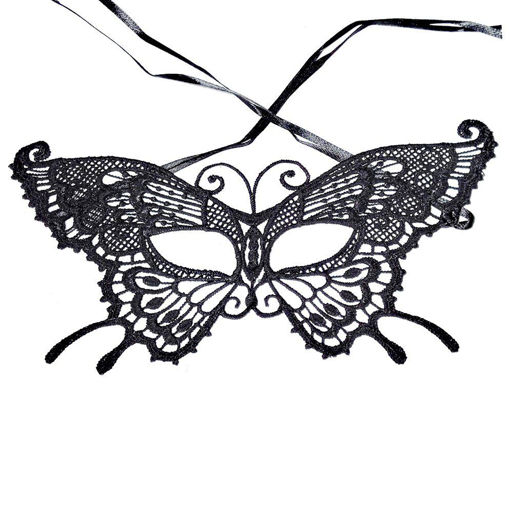 Outfits Sexy Women Black Lace Masquerade Mask Halloween Cosplay Carnaval Party Prop 029