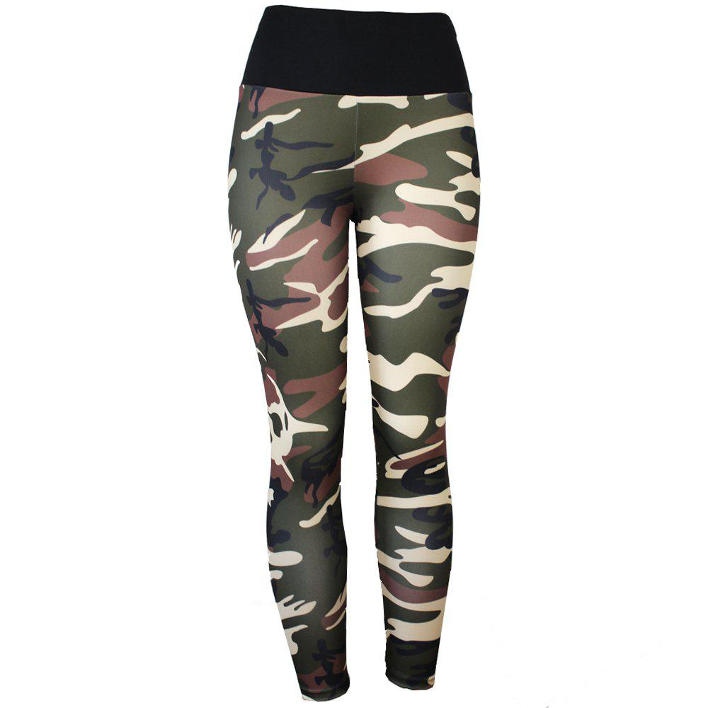 Fancy High Waist Camouflage Printging Yoga Pants Leggings